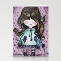 girly Stationery Cards featuring girly by norjene