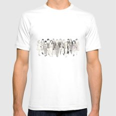 Fall 2012 MEDIUM White Mens Fitted Tee