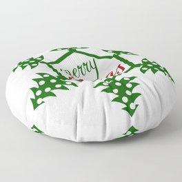 Xmas TreeFlake Floor Pillow