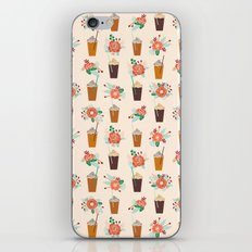 Coffee floral bouquet coffee lovers java bean cute pattern print for kitchen iPhone & iPod Skin