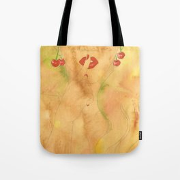 Cherry Lady Tote Bag
