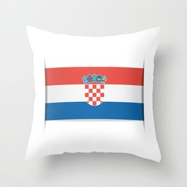 Flag of Croatia.  The slit in the paper with shadows.  Throw Pillow