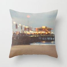 Beach Candy. Santa Monica pier photograph Throw Pillow