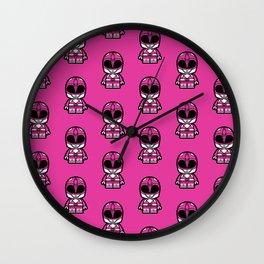 Power Chibi Pink Ranger Wall Clock