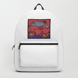 Keith Haring Dolphin Backpack