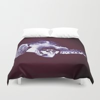 sea turtle Duvet Covers featuring Sea Turtle by DistinctyDesign