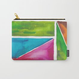 180811 Watercolor Block Swatches 5| Colorful Abstract |Geometrical Art Carry-All Pouch