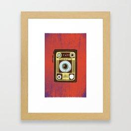 Brown Vintage Camera Framed Art Print
