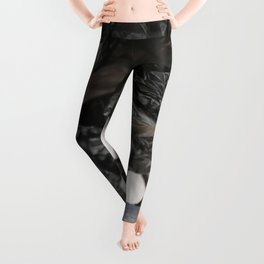 black plastic 08 Leggings