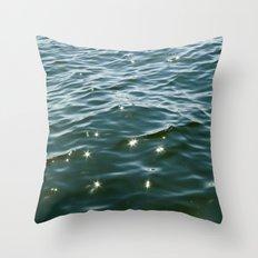 MAINE ocean sunlight Throw Pillow