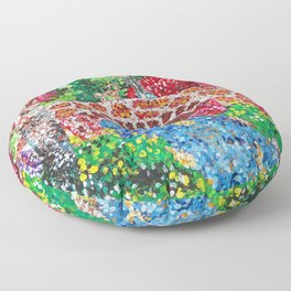 Pointalism Bridge Floor Pillow