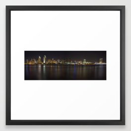 San Diego Skyline Framed Art Print