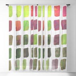 Brushstrokes 1za by Kathy Morton Stanion Sheer Curtain