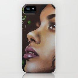 Girl Flower Mural Ibiza iPhone Case