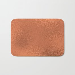 Simply Metallic in Deep Copper Bath Mat