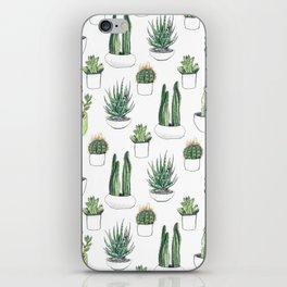 Watercolour Cacti & Succulents iPhone Skin