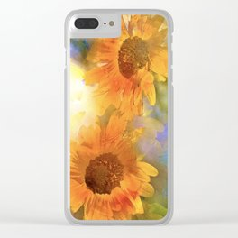 Sunflower 26 Clear iPhone Case