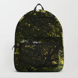 Silhouetted Leaves Abstract II Backpack