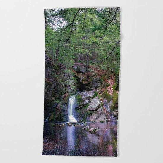 Purgatory Falls NH in May Beach Towel