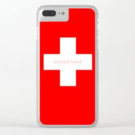 Switzerland Lovers Clear iPhone Case