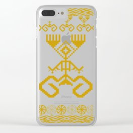 old symbols Clear iPhone Case