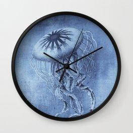 Blue Jellyfish Underwater Magic Wall Clock