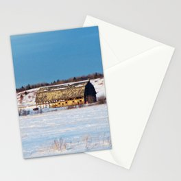 Barn gets a little glow from the Sun as it sits, waiting to be torn apart. Stationery Cards