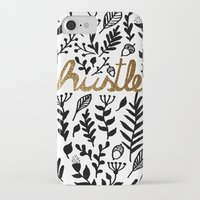 hustle iPhone & iPod Cases featuring Hustle by wildpink