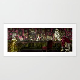 Beauty Dining with the Beast Art Print