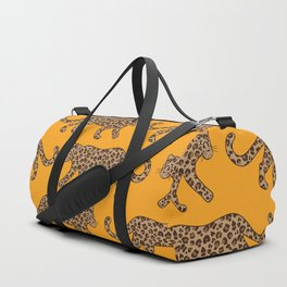 Kitty Parade - Classic Camel on Tangerine Duffle Bag