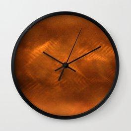 Orange copper Wall Clock