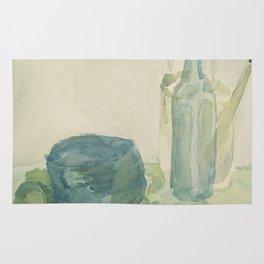Transparencies in Blue Green Rug