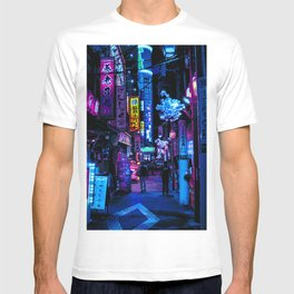 Tokyo's Moody Blue Vibes T-shirt