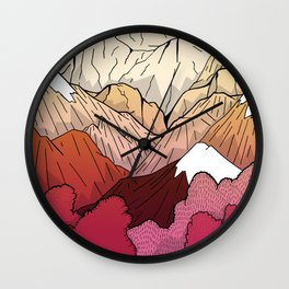 Autumnal Mountains Wall Clock