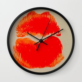 Pure Coral Pout Wall Clock