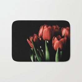 Red tulips Bath Mat