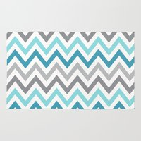 tina crespo Area & Throw Rugs featuring TINA CHEVRON 2 by JUNE blossom