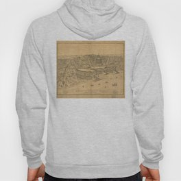 Vintage Pictorial Map of Washington D.C. (1872) Hoody