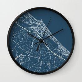 Rimini Blueprint Street Map, Rimini Colour Map Prints Wall Clock
