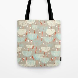 Botanical Block Print M+M Latte by Friztin Tote Bag