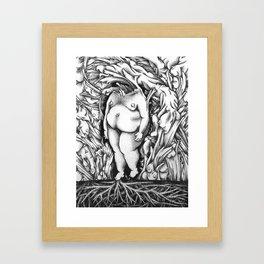 Flesh Framed Art Print