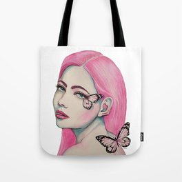 Pink Butterfly Soul Tote Bag