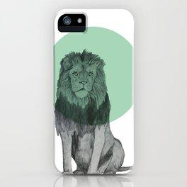 sitting lion iPhone Case