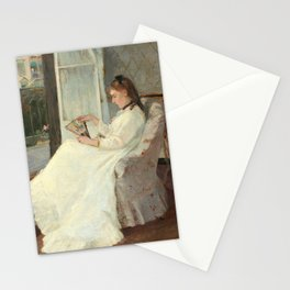 The Artist's Sister at a Window by Berthe Morisot Stationery Cards
