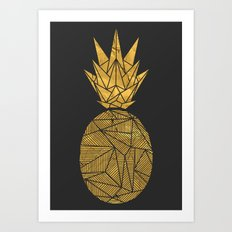 Bullion Rays Pineapple Art Print