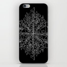 starburst line art - black iPhone Skin