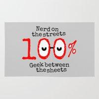geek Area & Throw Rugs featuring Nerd Geek  by mailboxdisco