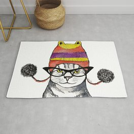 The Cat with Slouch Hat I Rug