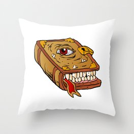 monster book. Throw Pillow