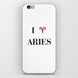 I heart Aries iPhone Skin